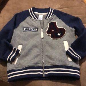 Varsity style toddler boys light jacket size 2T